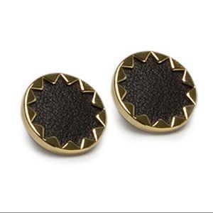 House of Harlow Sunburst Earrings in Black